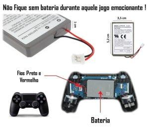 bateria controle ps4