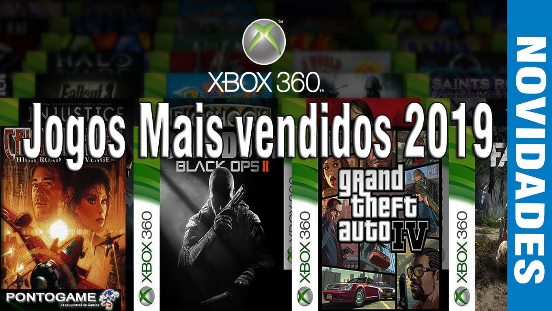 Jogos xbox360 mais vendidos 2019